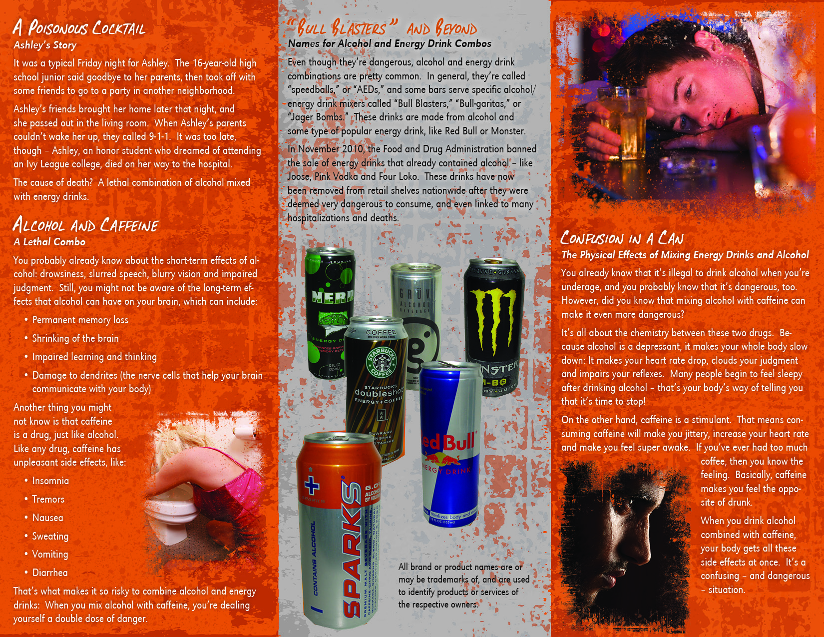 the negative effects of energy drinks and alcohol essay Energy drinks can mask the effects of alcohol  alcohol and energy drinks can both cause insomnia so avoid drinking them if you know you'll be heading home soon.