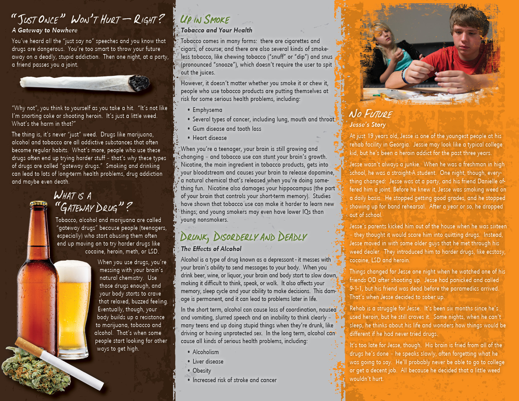 Gateway Drugs Path to Addiction Pamphlet – Drug Brochure
