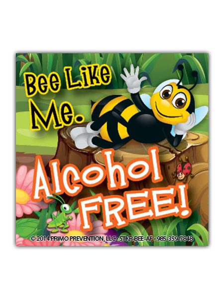 Bee-Like-Me-Alcohol Sticker