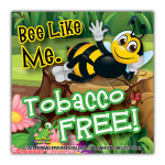 Bee-Like-Me-Tobacco Sticker