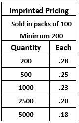 Bookmark Imprinted Pricing Guide