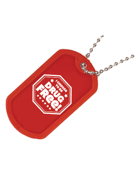 Choose-drug-free-dog-tag