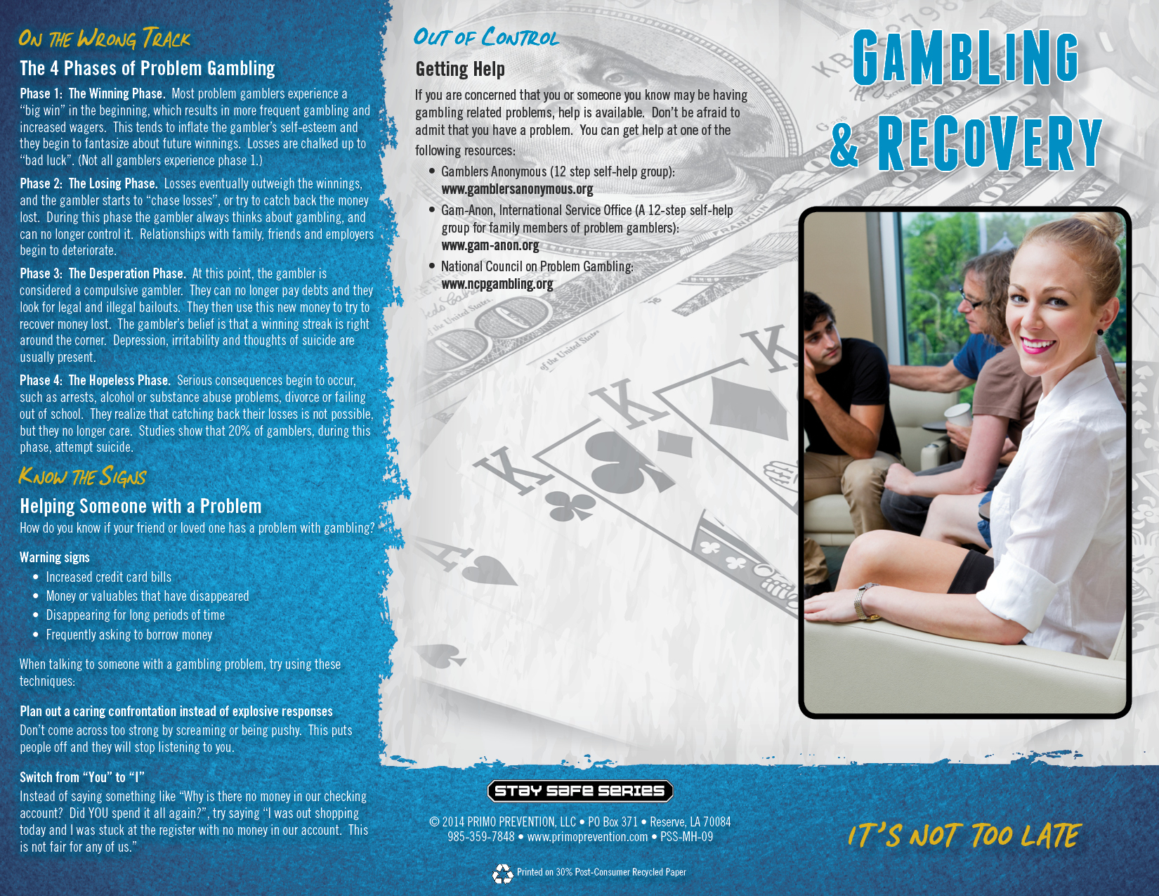 Gambling prevention brochures beating roulette system