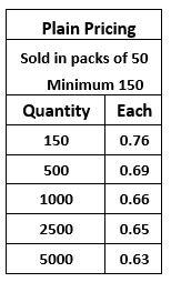 Pocket Slider Plain Pricing