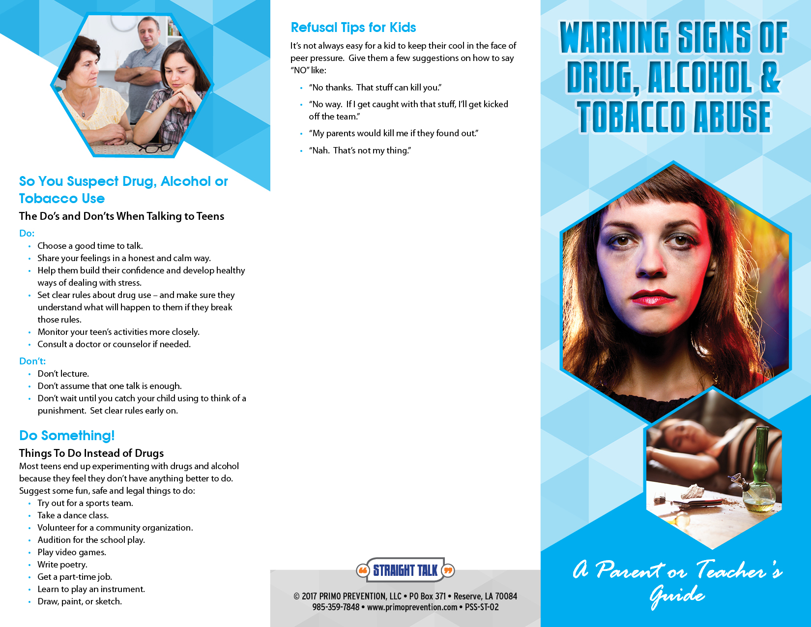 addictions and health pamphlet