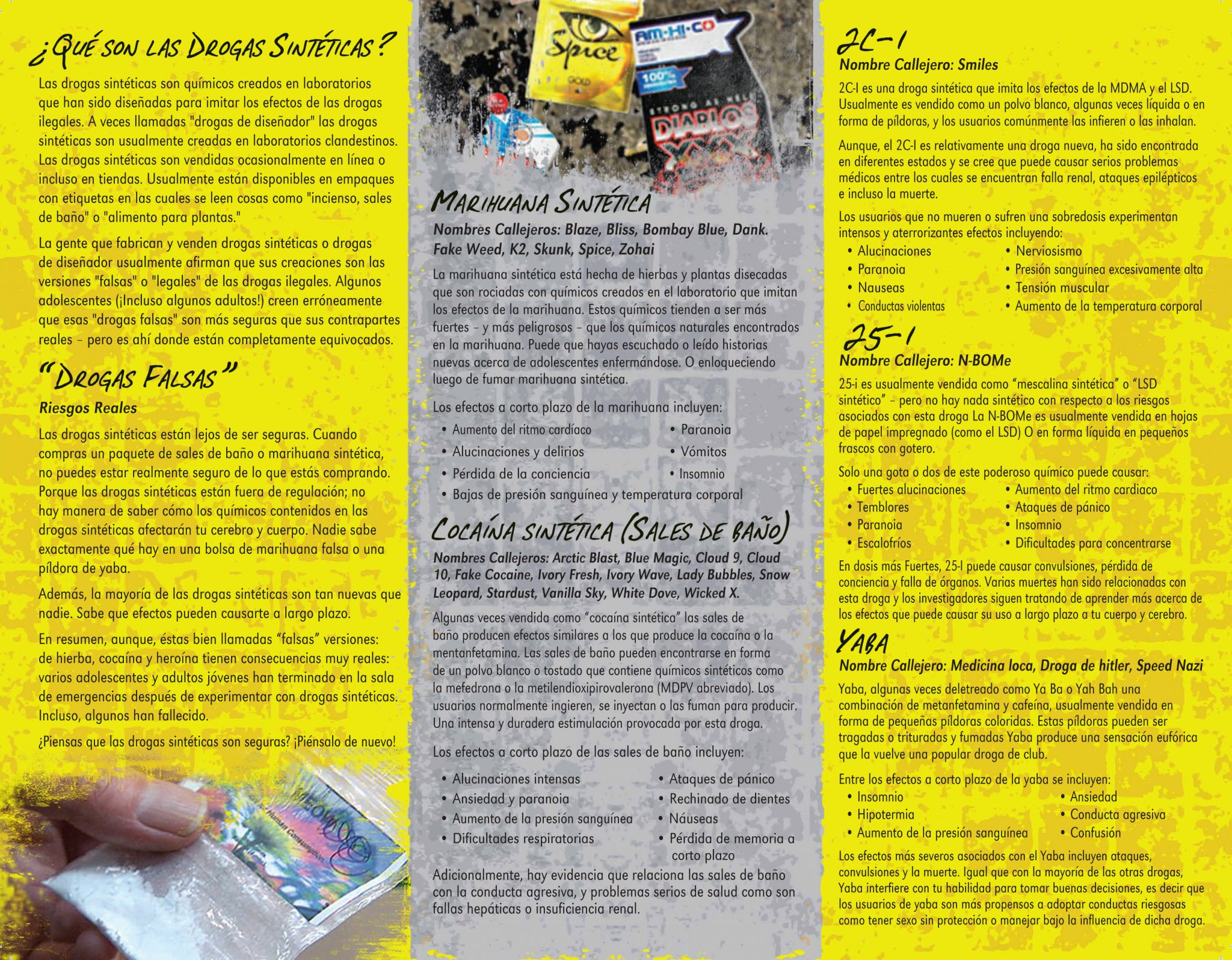 Spanish synthetic drugs pamphlet primo prevention lightbox publicscrutiny Images