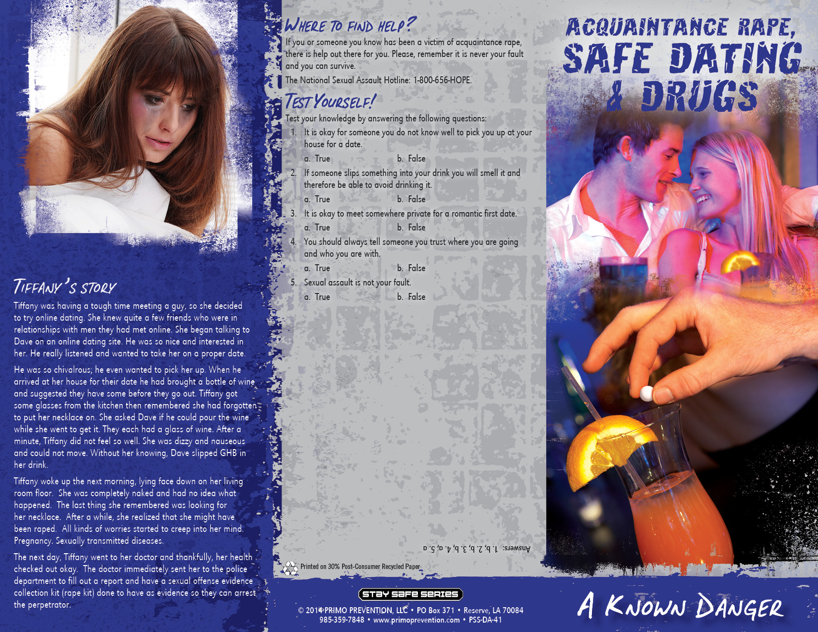 Safe dating brochure