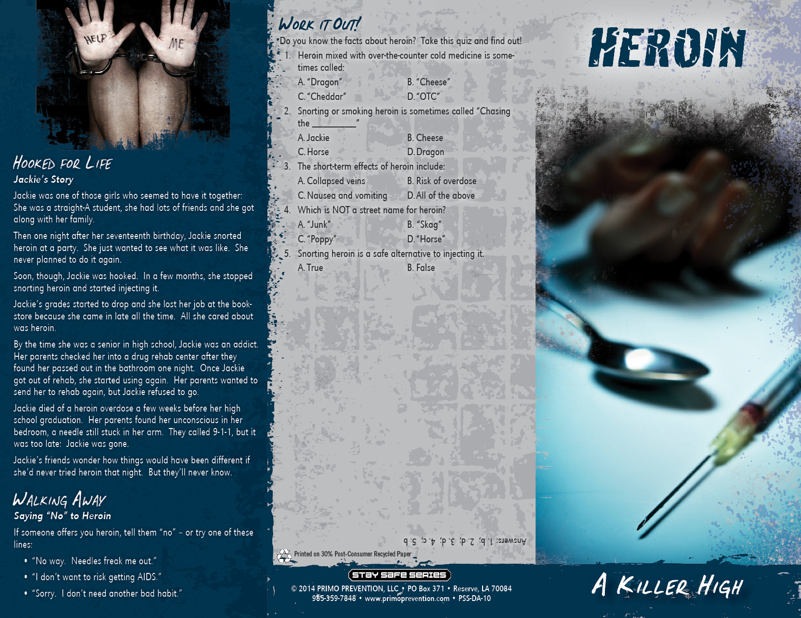 Long Term Effects Of Smoking >> Heroin: A Killer High Pamphlet - Primo Prevention