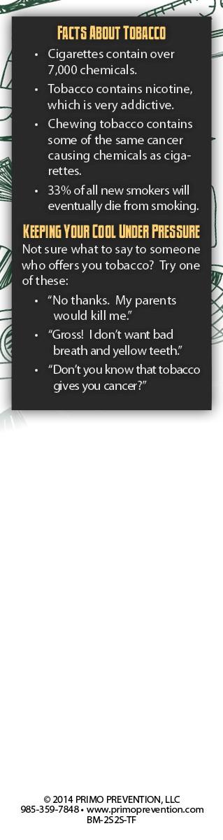 2 Smart 2 Start: Tobacco Free 4 Ever Bookmark