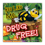 Bee-Like-Me-Drug-Free Sticker
