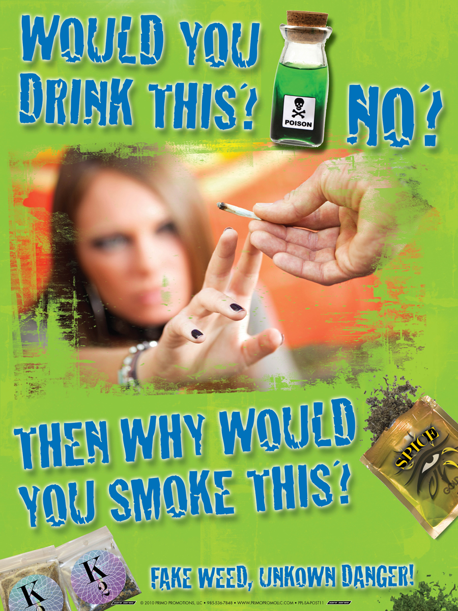Fake Weed Prevention Synthetic Marijuana Mini Poster
