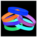 Silicone Wristbands Glow in Dark