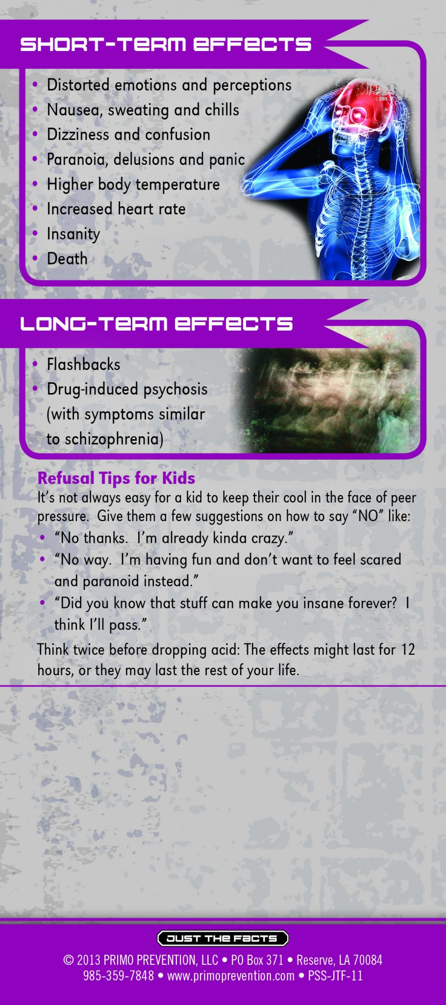 Just the Facts Rack Card: LSD