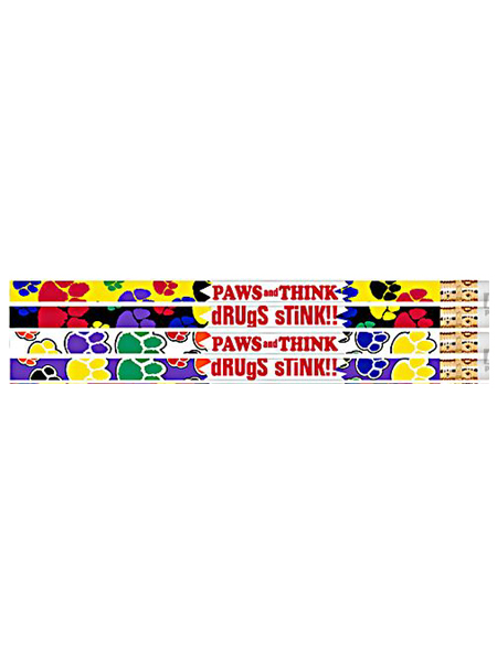 Paws-Drug-free-pencil