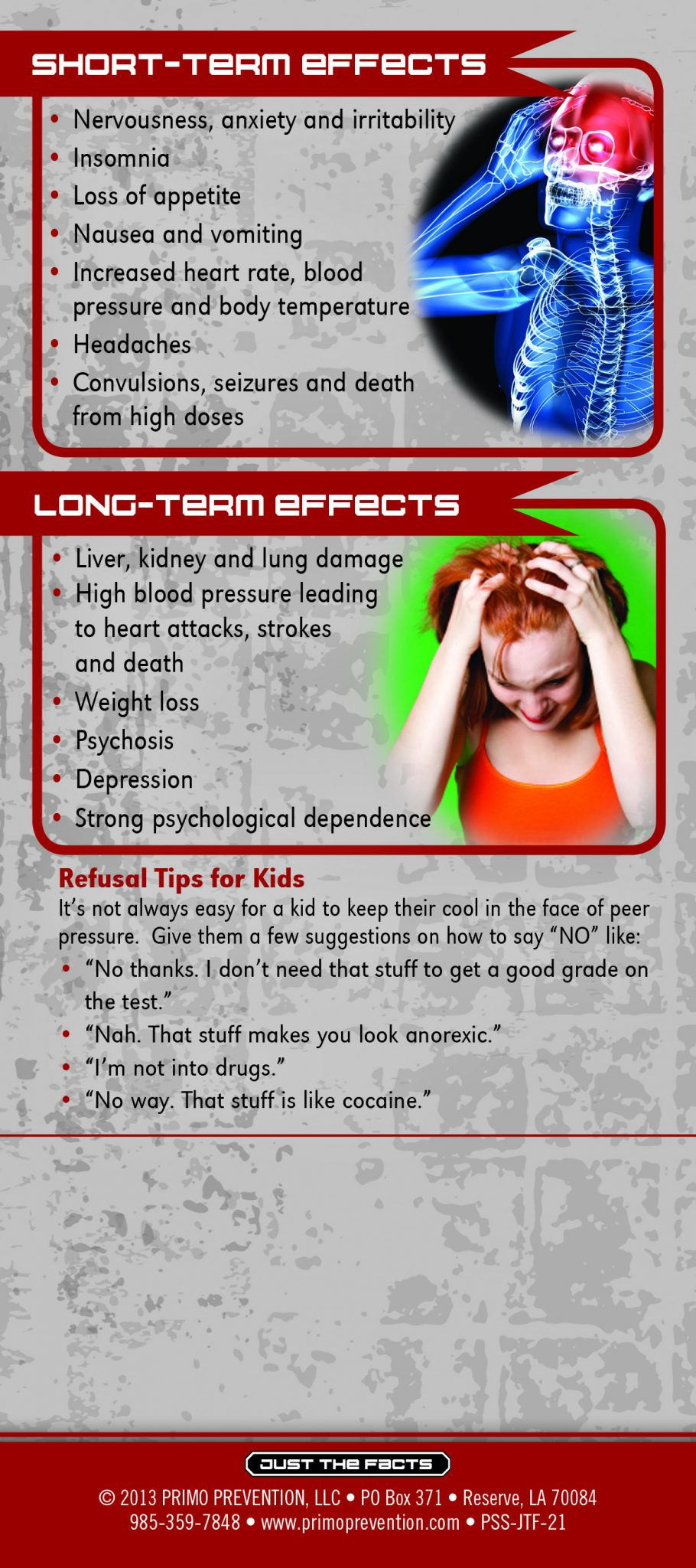 Just the Facts Rack Card: Ritalin