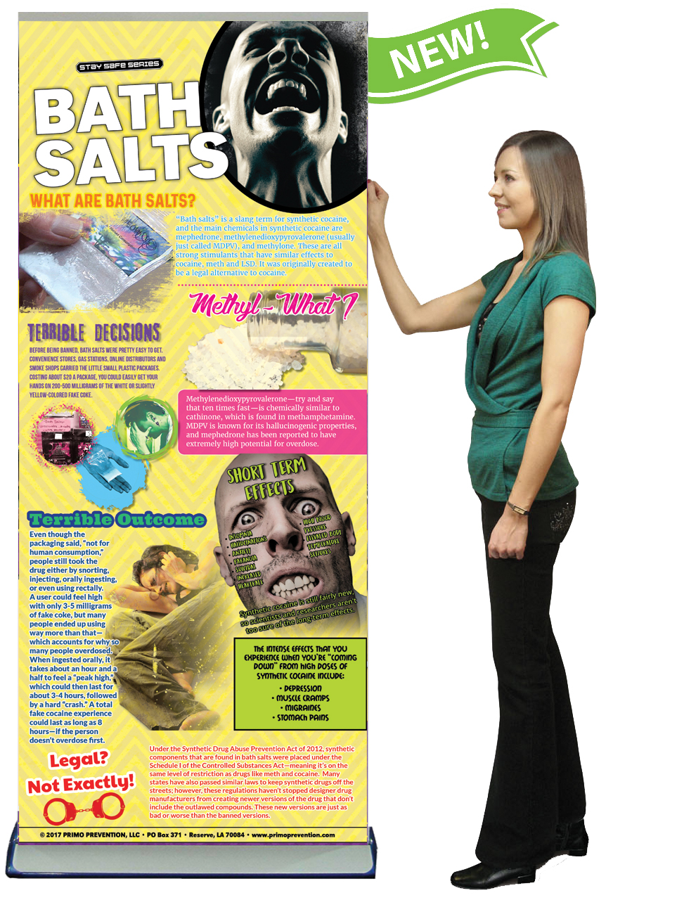 C E Bath Salts Prevention Retractable Banner W Stand Primo Prevention