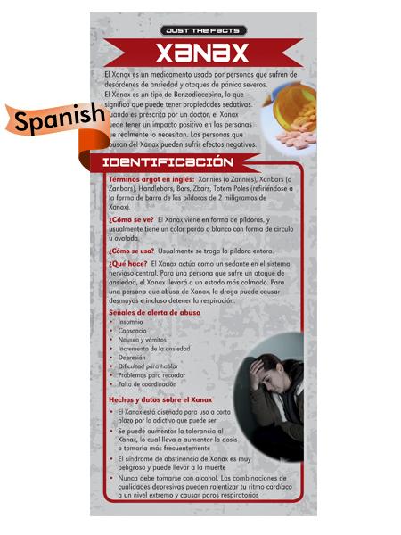 spanish xanax rack card