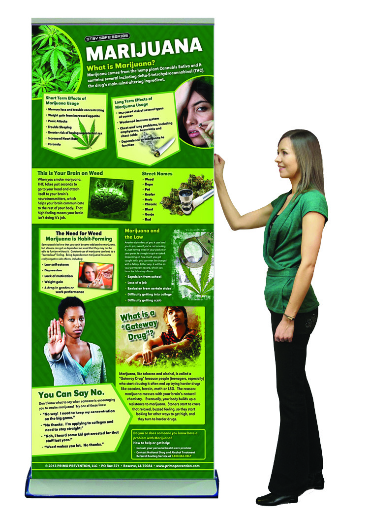 Marijuana retractable banner