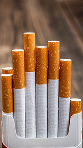 Cigarettes, which are just as bad as e-cigarettes