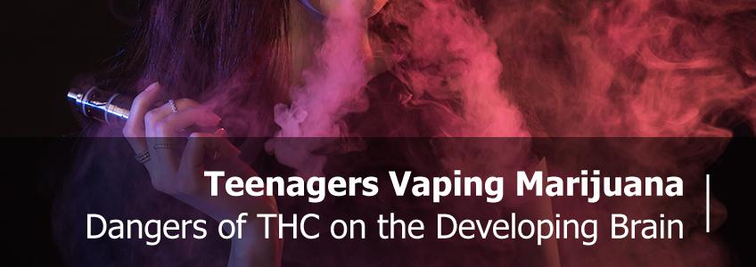 Teenager Vaping Marijuana